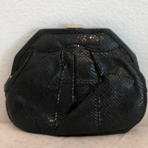 Vintage Black Snakeskin Purse